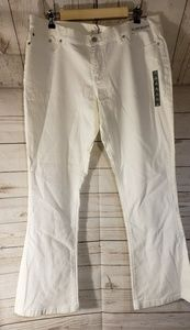 NWT New York & Co White Slim Bootcut Jeans